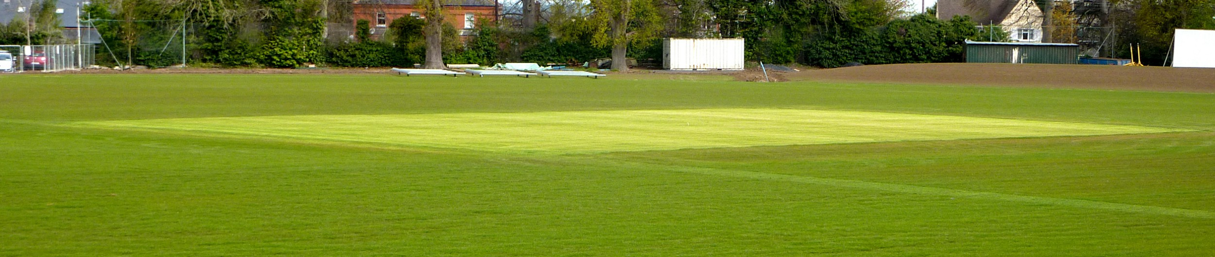 Cricket Ground with focus on Pitch